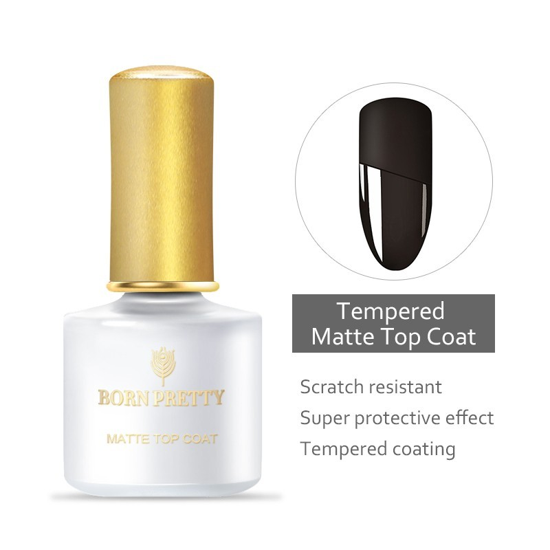 Tempered matte top coat no wipe